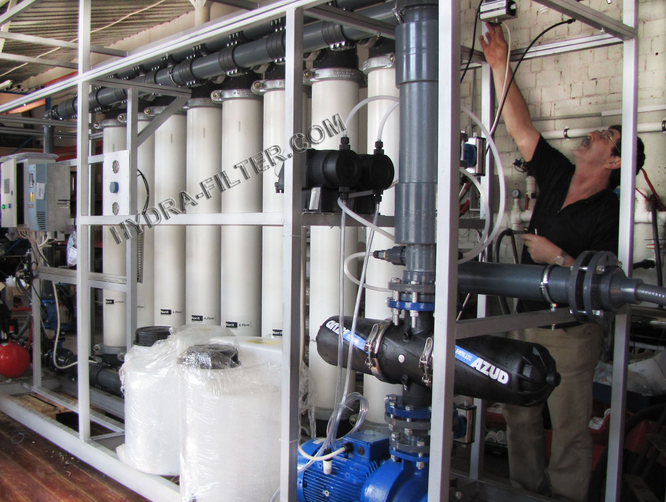 Ultrafiltration in industrial water treatment